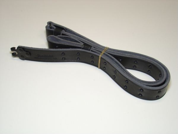 1 1/4 Inch Leather Sniper Rifle Sling (BK)